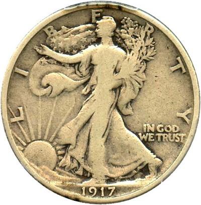 Image of 1917 50c PCGS F12