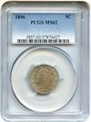 Image of 1896 5c PCGS MS62
