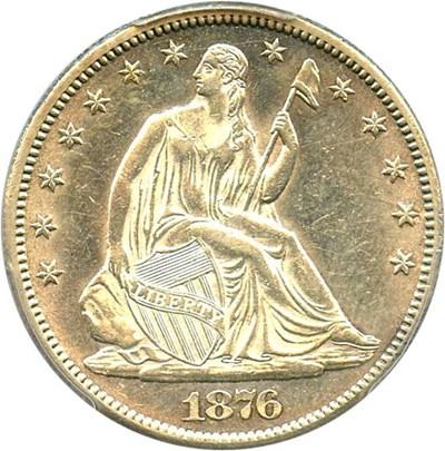 Image of 1876-CC 50c PCGS AU58 - Super Slider - No Reserve!
