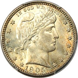 Image of 1905-O 25c PCGS/CAC MS65+