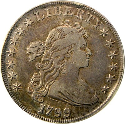 Image of 1799 $1 PCGS VF30
