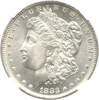 Image of 1883-O $1 NGC/CAC MS66