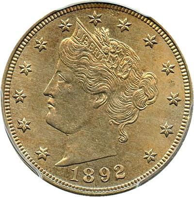 Image of 1892 5c PCGS MS63