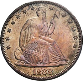 Image of 1888 50c PCGS/CAC MS66