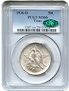 Image of 1936-D Texas 50c PCGS/CAC MS66