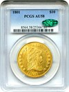 Image of 1801 $10 PCGS/CAC AU58 - Wonderful Early Eagle