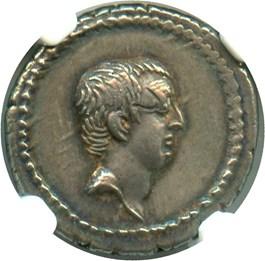 Image of 42 BC L.Liv. Regulus AR Denarius NGC XF (Ancient Roman)