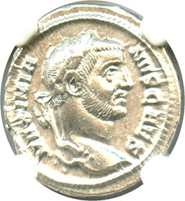 Image of AD 305-311 Galerius AR Argenteus NGC Choice AU (Ancient Roman)
