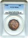Image of 1900 25c PCGS MS64