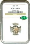 Image of 1888 3cN NGC/CAC Proof 66 CAM