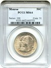 Image of 1923-S Monroe 50c PCGS MS64