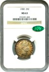 Image of 1900 25c NGC/CAC MS63 - Colorful Reverse Toning