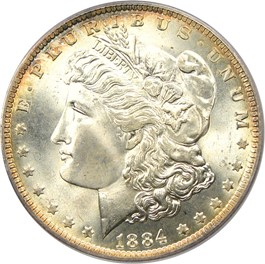 Image of 1884-O $1 PCGS/CAC MS67