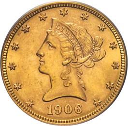 Image of 1906-D $10 PCGS MS64 - No Reserve!