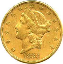 Image of 1883-S $20 PCGS AU50