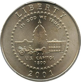 Image of 2001-P Capitol Visitor Center 50c PCGS MS69 - No Reserve!