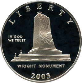 Image of 2003-P First Flight 50c PCGS Proof 69 DCAM