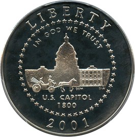 Image of 2001-P Capitol Visitor Center 50c PCGS Proof 69 DCAM - No Reserve!