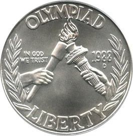 Image of 1988-D Olympic $1 PCGS MS69 - No Reserve!
