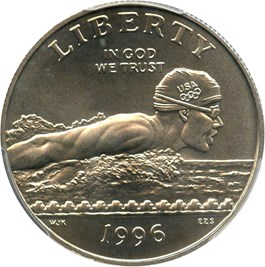 Image of 1996-S Olympic Swimming 50c PCGS MS69