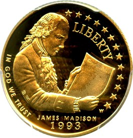 Image of 1993-W Madison $5 PCGS Proof 69 DCAM - No Reserve!