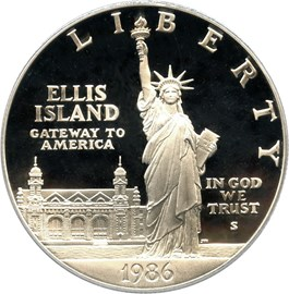 Image of 1986-S Statue Liberty $1 PCGS Proof 69 DCAM