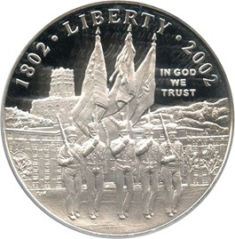 Image of 2002-W West Point Bicentennial $1 PCGS Proof 69 DCAM