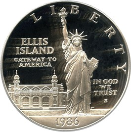 Image of 1986-S Statue Liberty $1 PCGS Proof 69 DCAM - No Reserve!