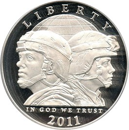Image of 2011-P United States Army $1 PCGS Proof 69 DCAM - No Reserve!