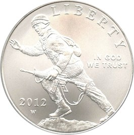 Image of 2012-W Infantry $1 PCGS MS69
