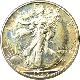 Image of 1942 50c PCGS/CAC Proof 66+