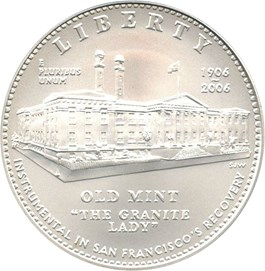 Image of 2006-S San Francisco Old Mint $1 PCGS MS69