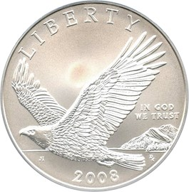 Image of 2008-P Bald Eagle $1 PCGS MS69 - No Reserve!