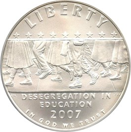 Image of 2007-P Desegregation-Little Rock $1 PCGS MS69