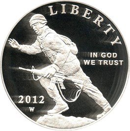 Image of 2012-W Infantry $1 PCGS Proof 69 DCAM