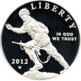 Image of 2012-W Infantry $1 PCGS Proof 69 DCAM - No Reserve!