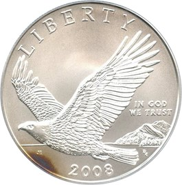 Image of 2008-P Bald Eagle $1 PCGS MS69