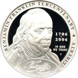 Image of 2006-P Ben Franklin-Founding Father $1 PCGS Proof 69 DCAM