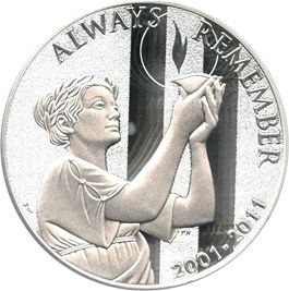 Image of 2011-W 9-11 National Medal $1 PCGS Proof 69 DCAM