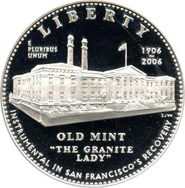 Image of 2006-S San Francisco Old Mint $1 PCGS Proof 69 DCAM