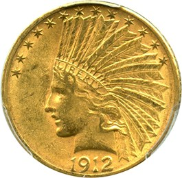 Image of 1912-S $10 PCGS/CAC AU58 - No Reserve!