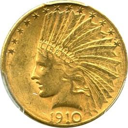 Image of 1910-S $10 PCGS/CAC AU58 - No Reserve!