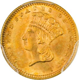 Image of 1888 G$1 PCGS/CAC MS65
