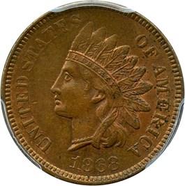 Image of 1868 1c PCGS/CAC MS64 BN