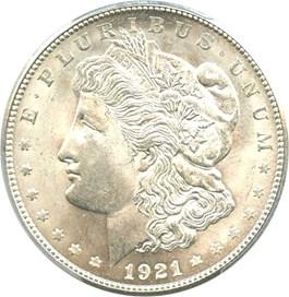 Image of 1921-S $1 PCGS MS65+