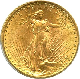 Image of 1912 $20 PCGS MS62 - Underrated P-Mint Saint Gaudens
