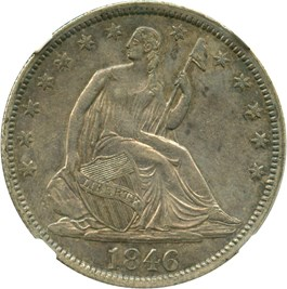 Image of 1846 50c NGC/CAC XF45 (Tall Date)