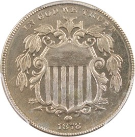 Image of 1878 5c PCGS Proof 66 - Scarce Proof Only Issue