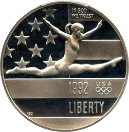 Image of 1992-S Olympic Gymnast 50c PCGS Proof 69 DCAM - No Reserve!