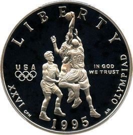 Image of 1995-S Basketball 50c PCGS Proof 69 DCAM
